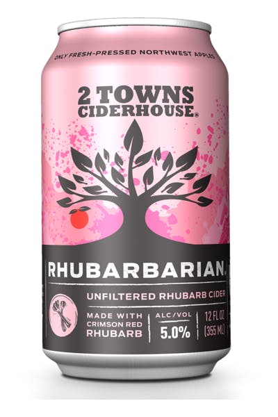 2 Towns Rhubarb Unfiltered Cider