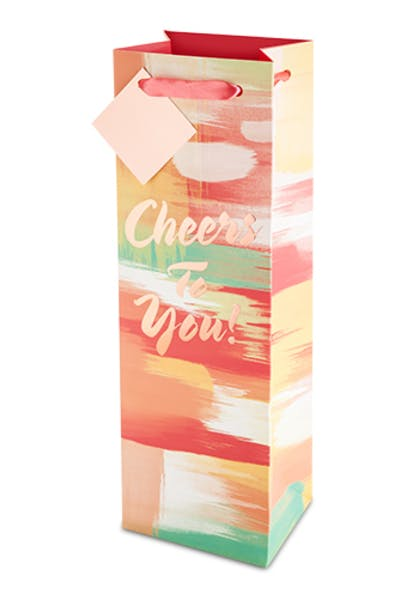 """Cheers To You"" Rose Gold Gift Bag"