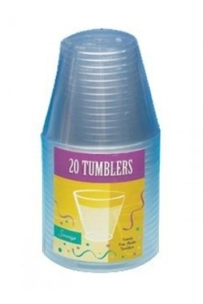 Clear Plastic Tumbler Cups