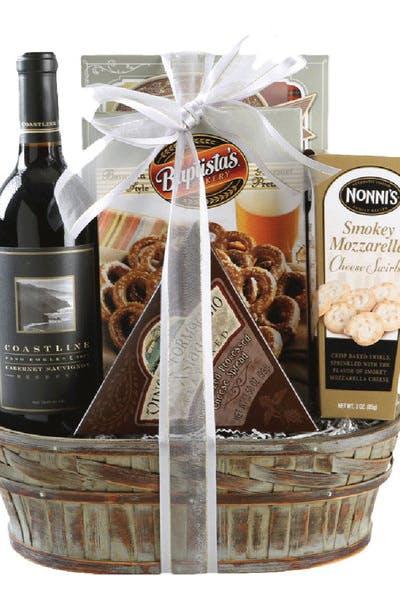Wine Gift Basket Coastline Cabernet Reserve