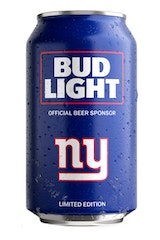 Bud Light NY Giants NFL Team Can