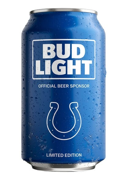 Bud Light Indianapolis Colts NFL Team Can