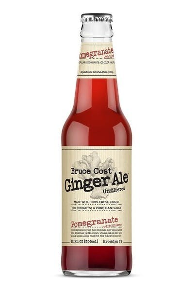Bruce Cost Fresh Ginger Ale Pomegranate