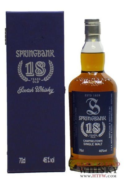 Springbank 18 Year Single Malt