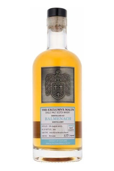 Exclusive Malts Balmenach Single Malt Scotch Whiskey 13 Year