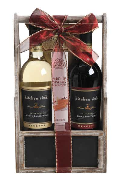 Wine Gift Basket Kitchen Sink Red And White Reserve Price ...